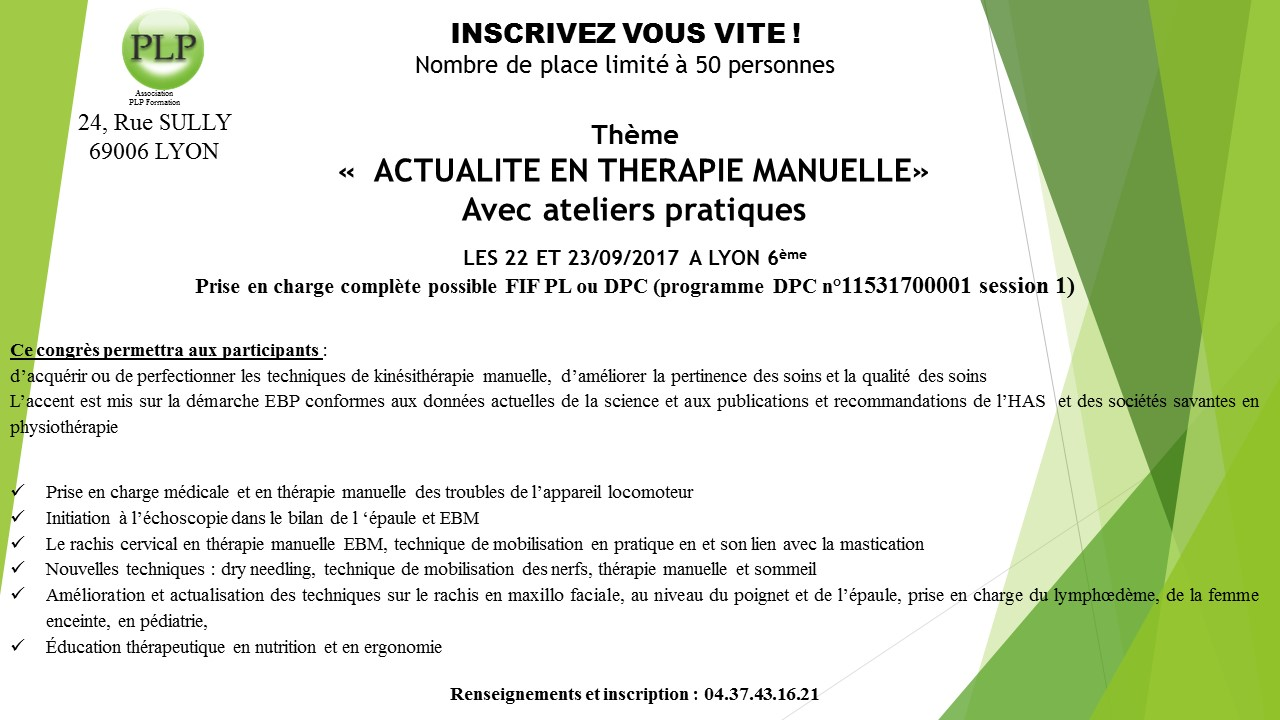 formation a distance osteopathe